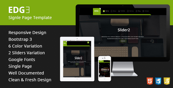 Edge Single Page Responsive HTML Template