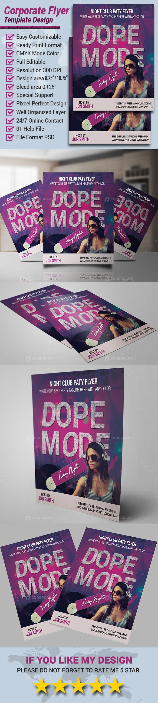 DJ Party Flyer Design Template 2021