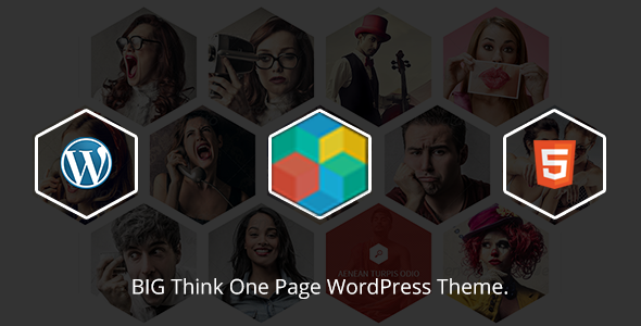 Big Think One Page WordPress Theme