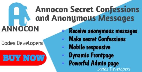 Annocon   Secret Messages and Anonymous Confessions