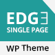 Edge Single Page Responsive Wordpress Theme