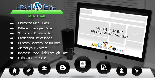 WP Fish Eye Menu Bar