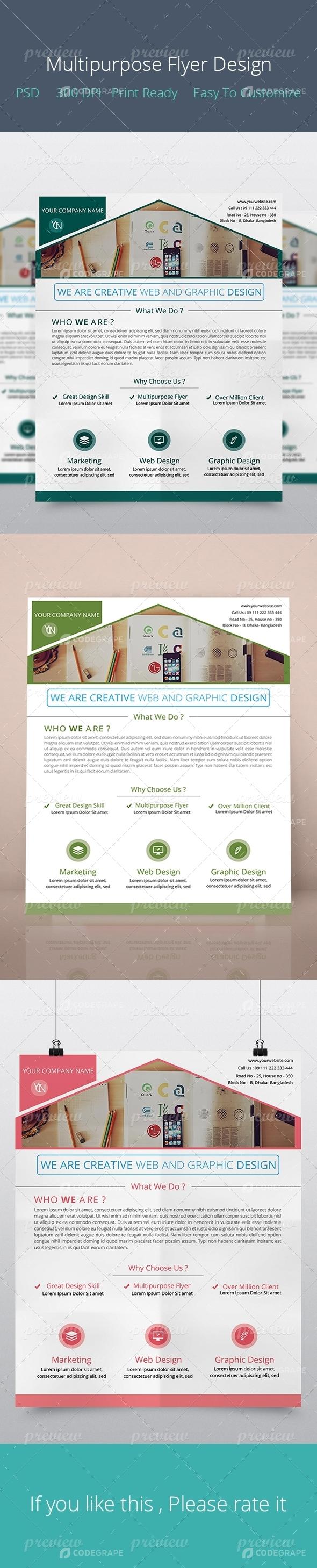 Multipurpose Flyer Design