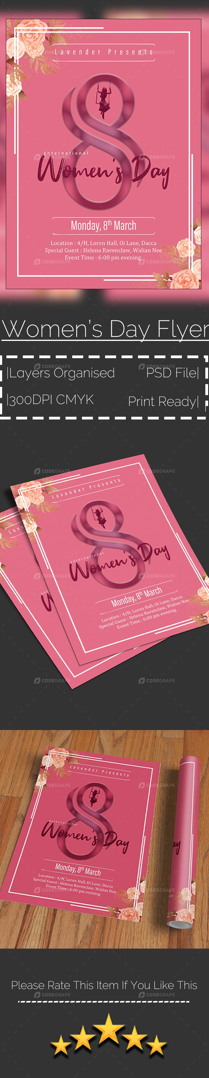 Women's Day Event Flyer