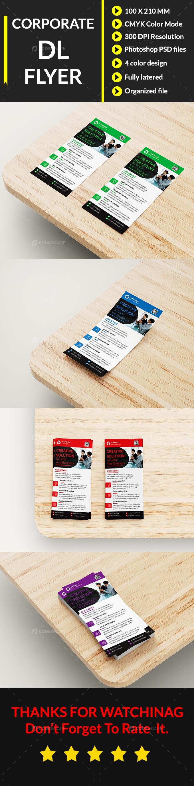 Corporate DL Flyer Design