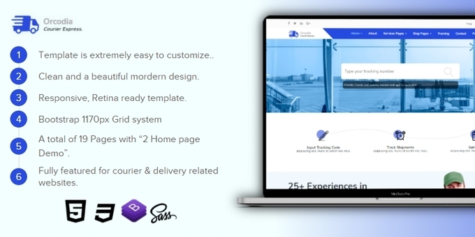 Orcodia - Courier & Delivery Service HTML Template
