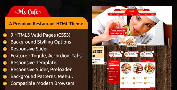 MY CAFE - A Premium Restaurant HTML Theme