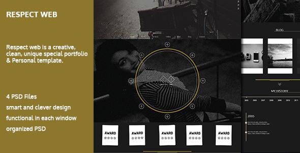 Respect - One Page Personal portfolio Templates