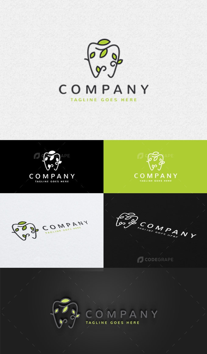 Eco Dentist Logo Template