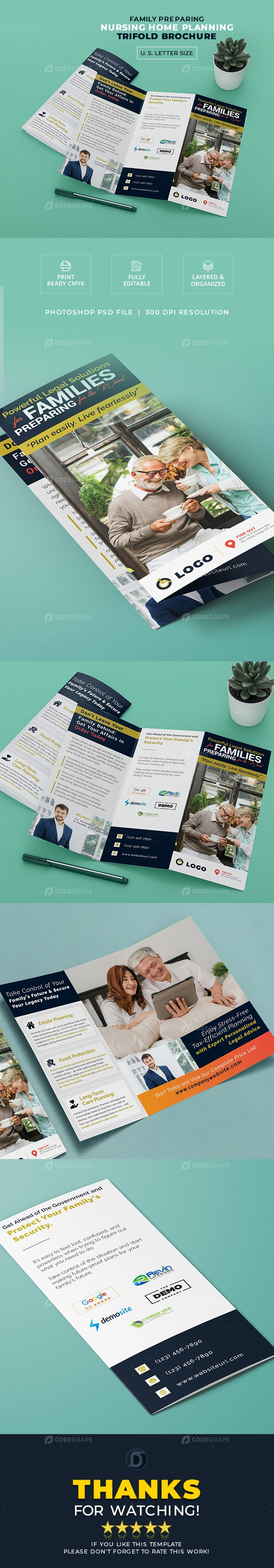 Nursing Home Planning Trifold Brochure