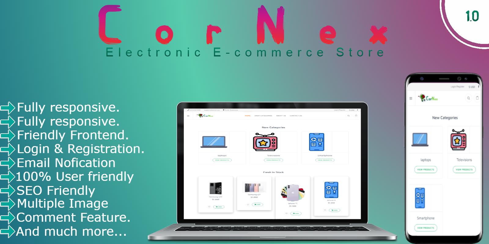 CorNex - Electronic E-commerce Store