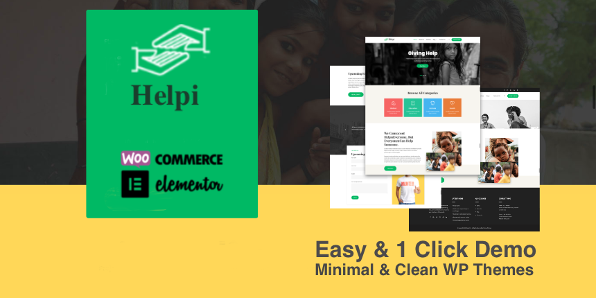 Helpi Pro - Charity WordPress Theme