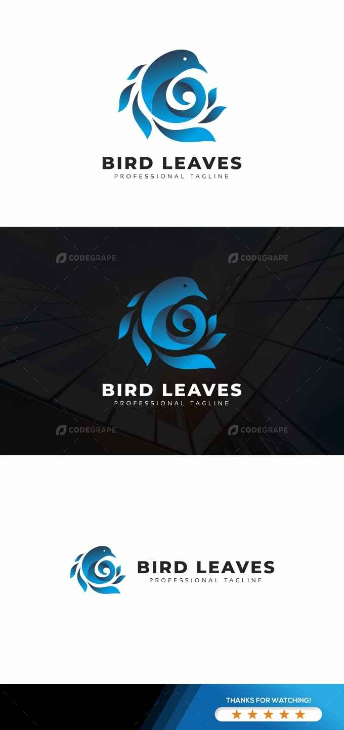 Bird Leaves Logo