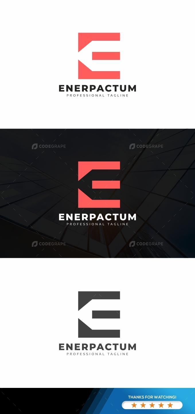 Enerpactum E Letter Logo