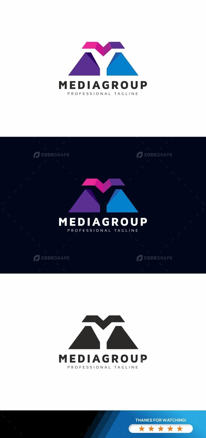 Media Group M Letter Logo