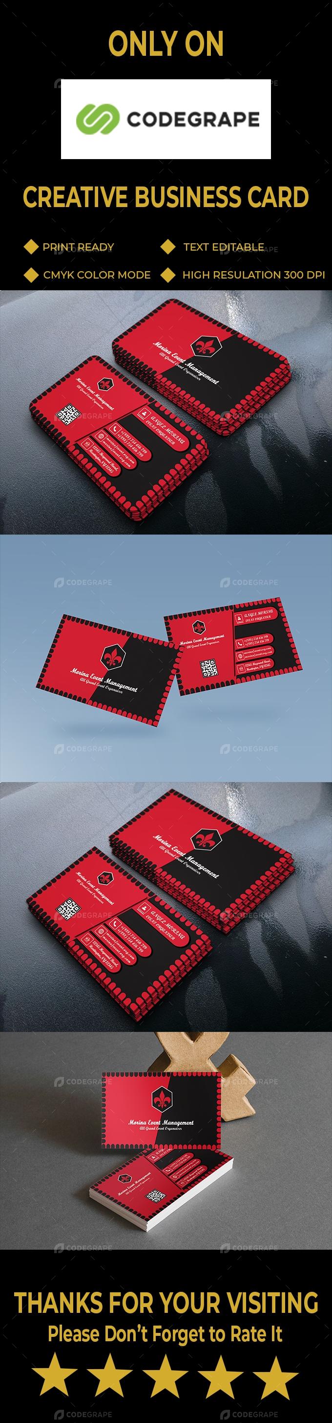 Event Management Business Card