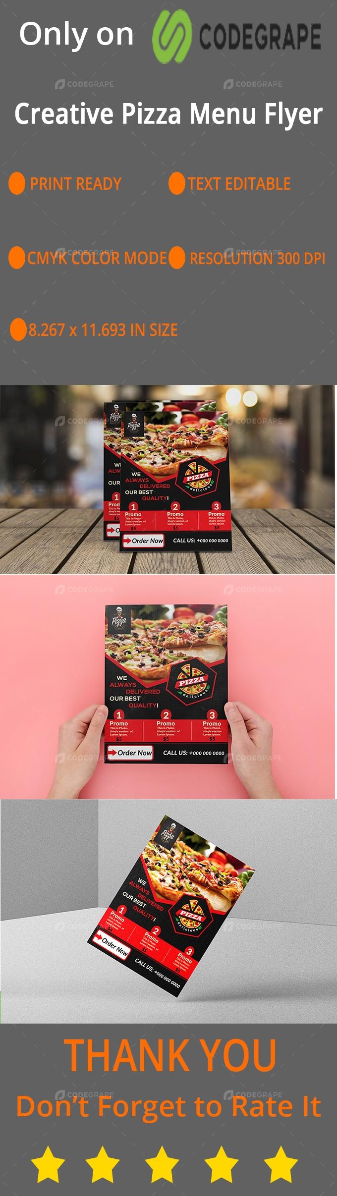 Creative Pizza Flyer Design
