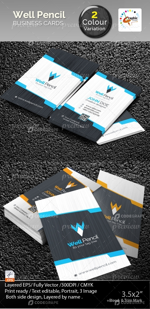 Well Pencil Business Cards