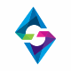 S Letter Polygon Colorful Logo