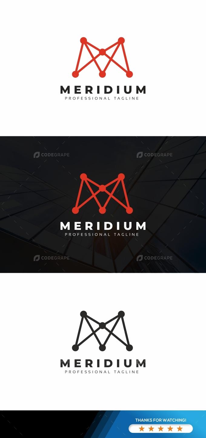 M Letter Molecular Logo