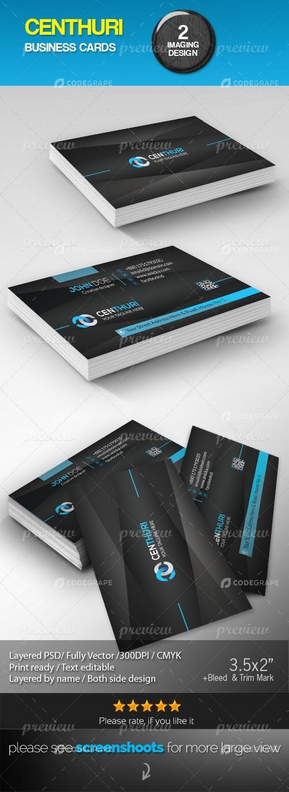 Centhuri Corporate  Business Card
