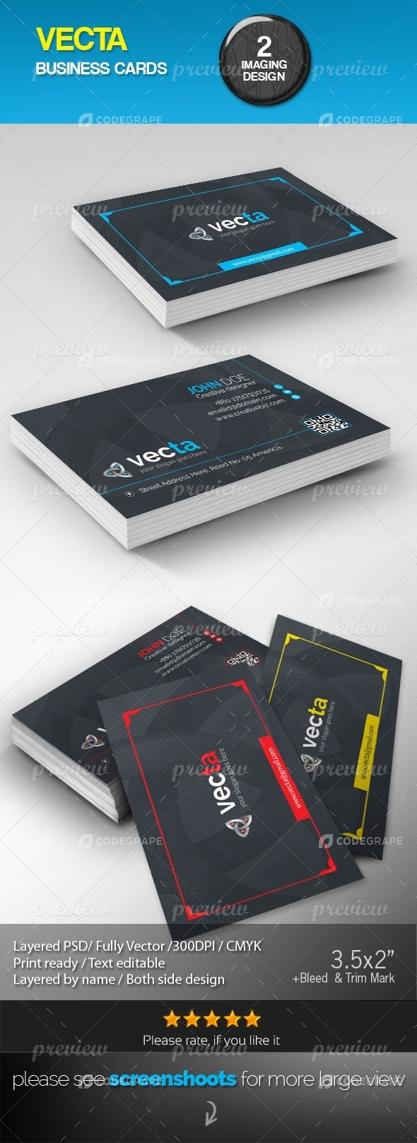 Vecta Corporate Creative Business Cards