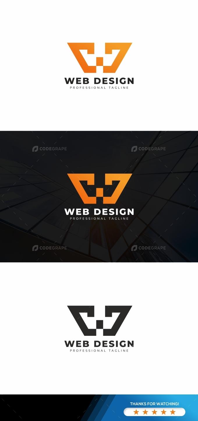 Web Design W Letter Logo