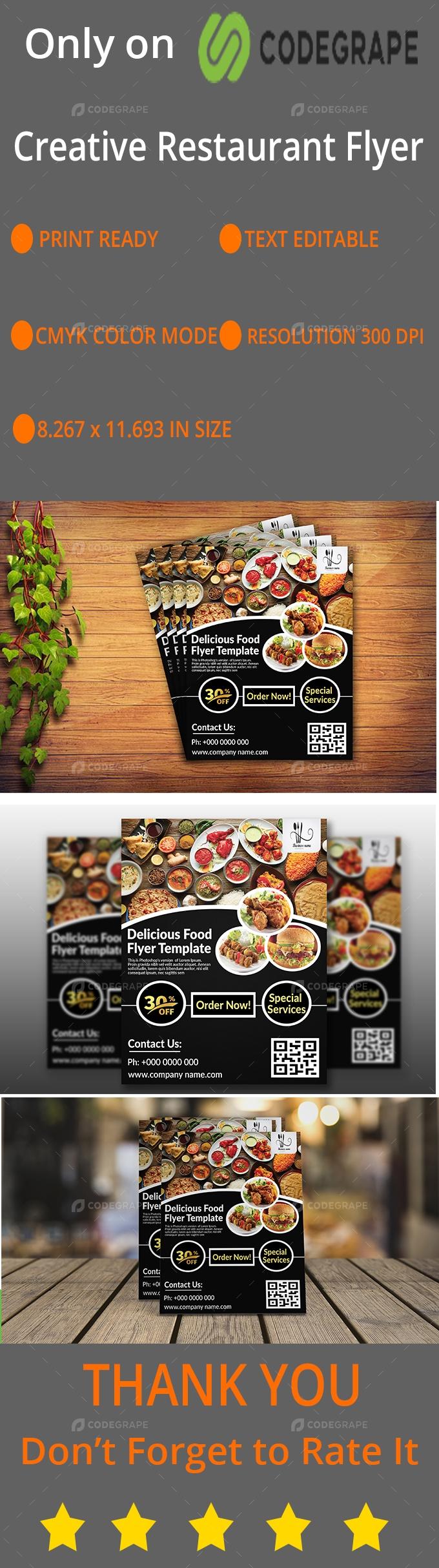 Creative Restaurant Flyer Design