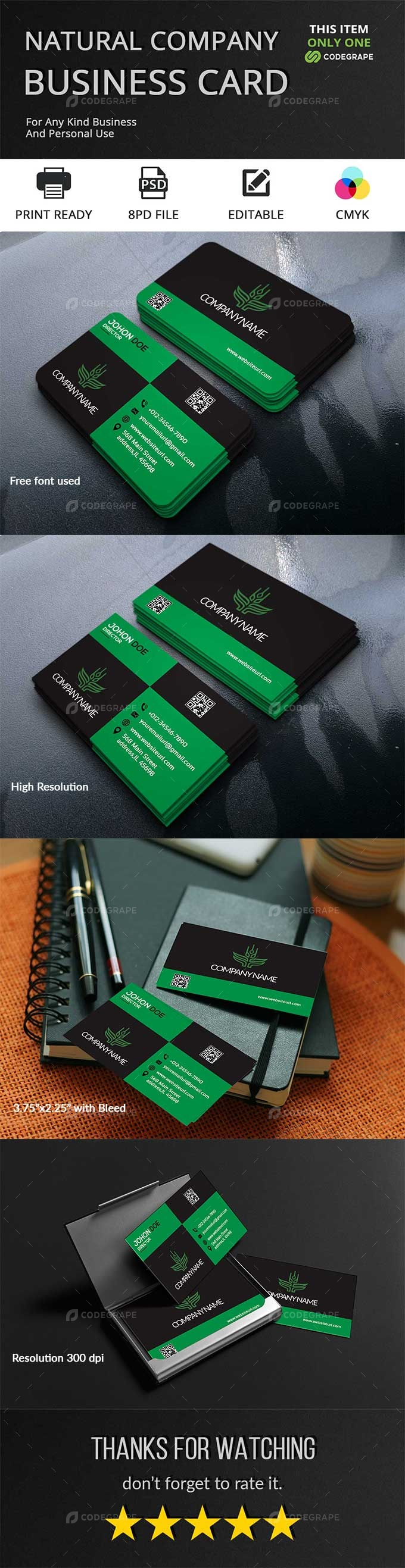 Natural Company Business Card