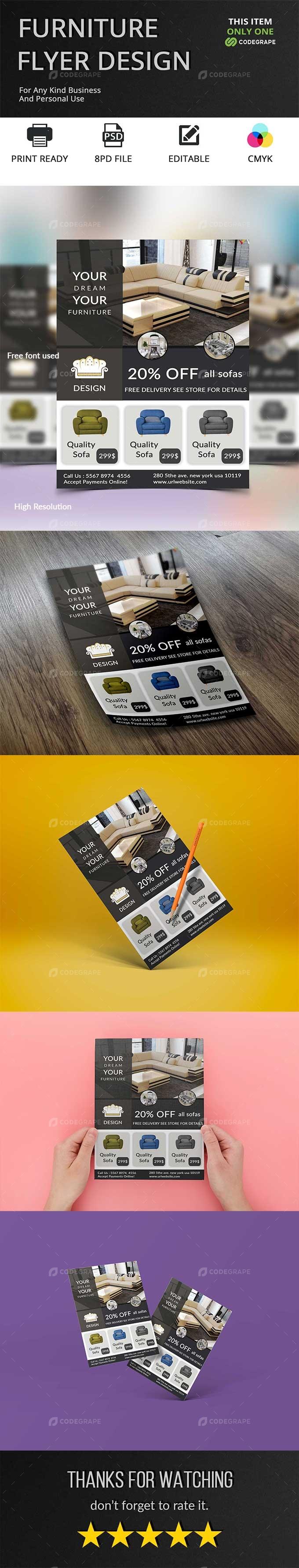 Furniture Business Flyer Design