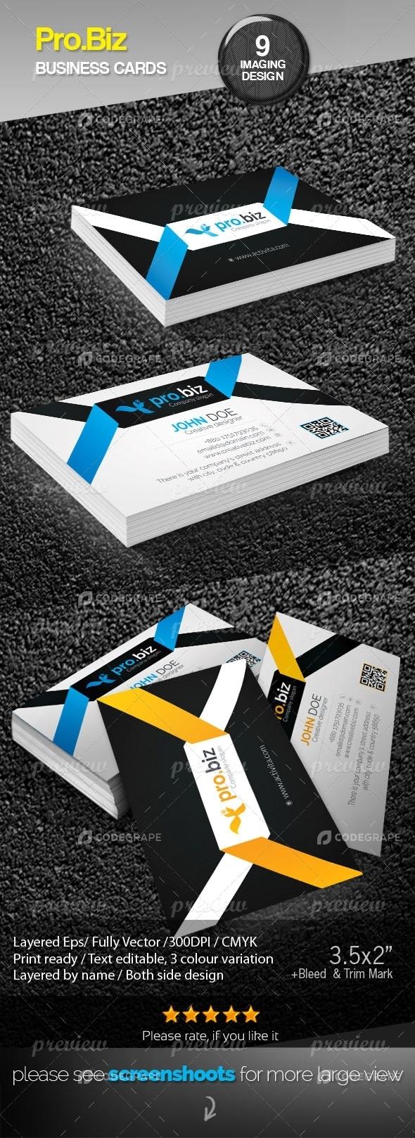 Pro.Biz Corporate Creative Business Cards
