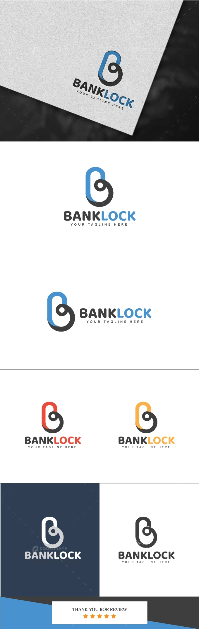 Bank Lock Logo