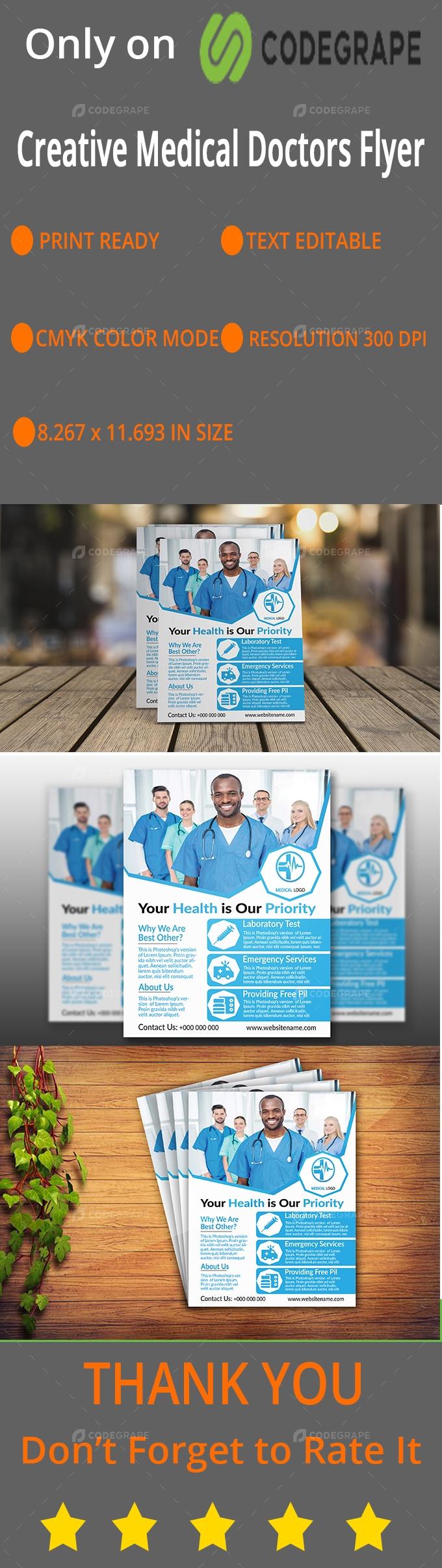Medical Doctors Flyer Design