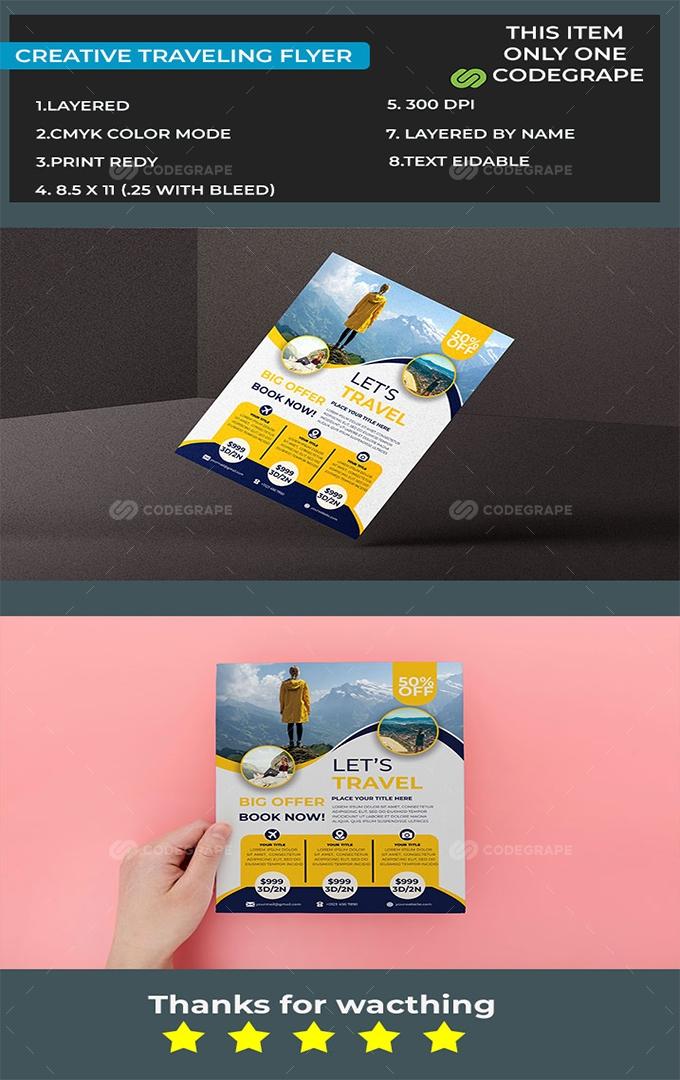 Creative Traveling Flyer