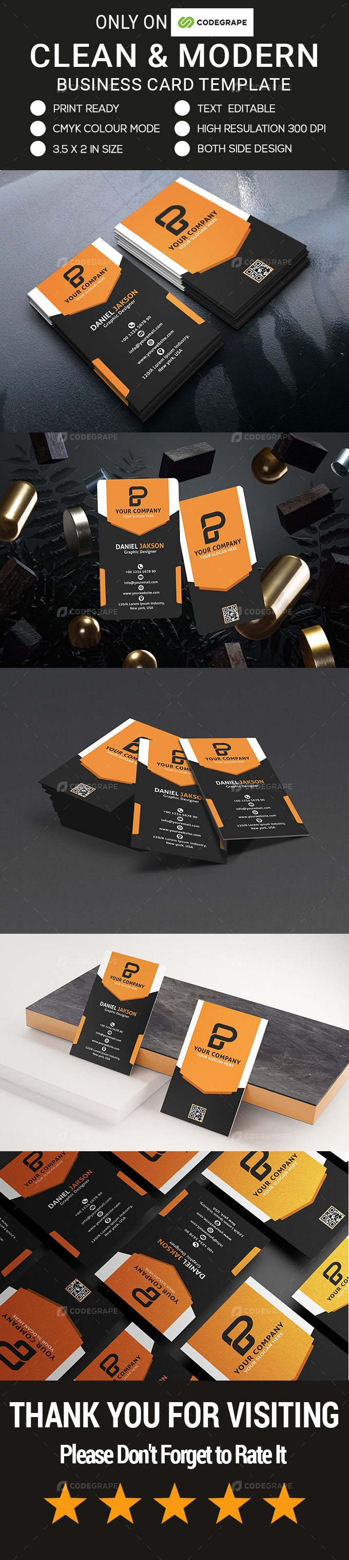 Clean & Modern Business Card Template