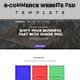 E-Commerce Website PSD Template
