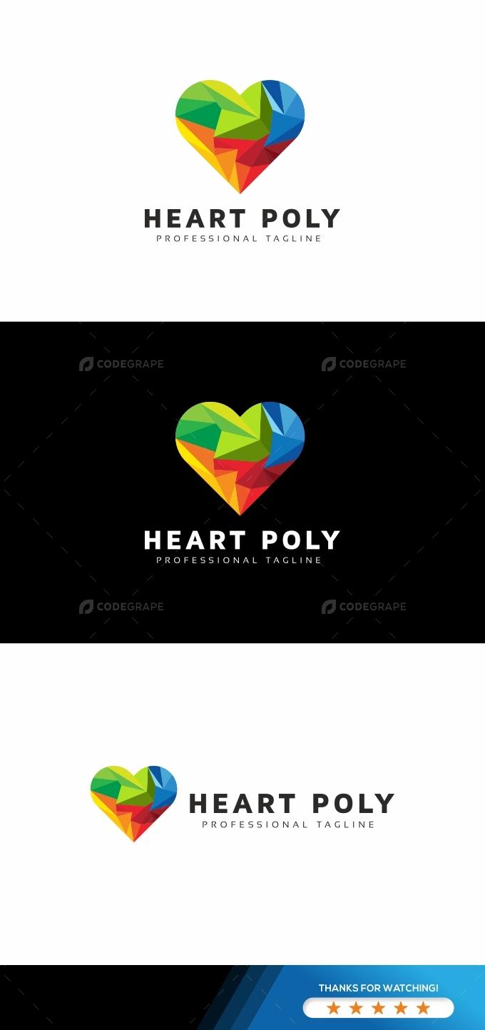 Heart Colorful Logo