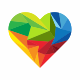 Heart Colorful Logo