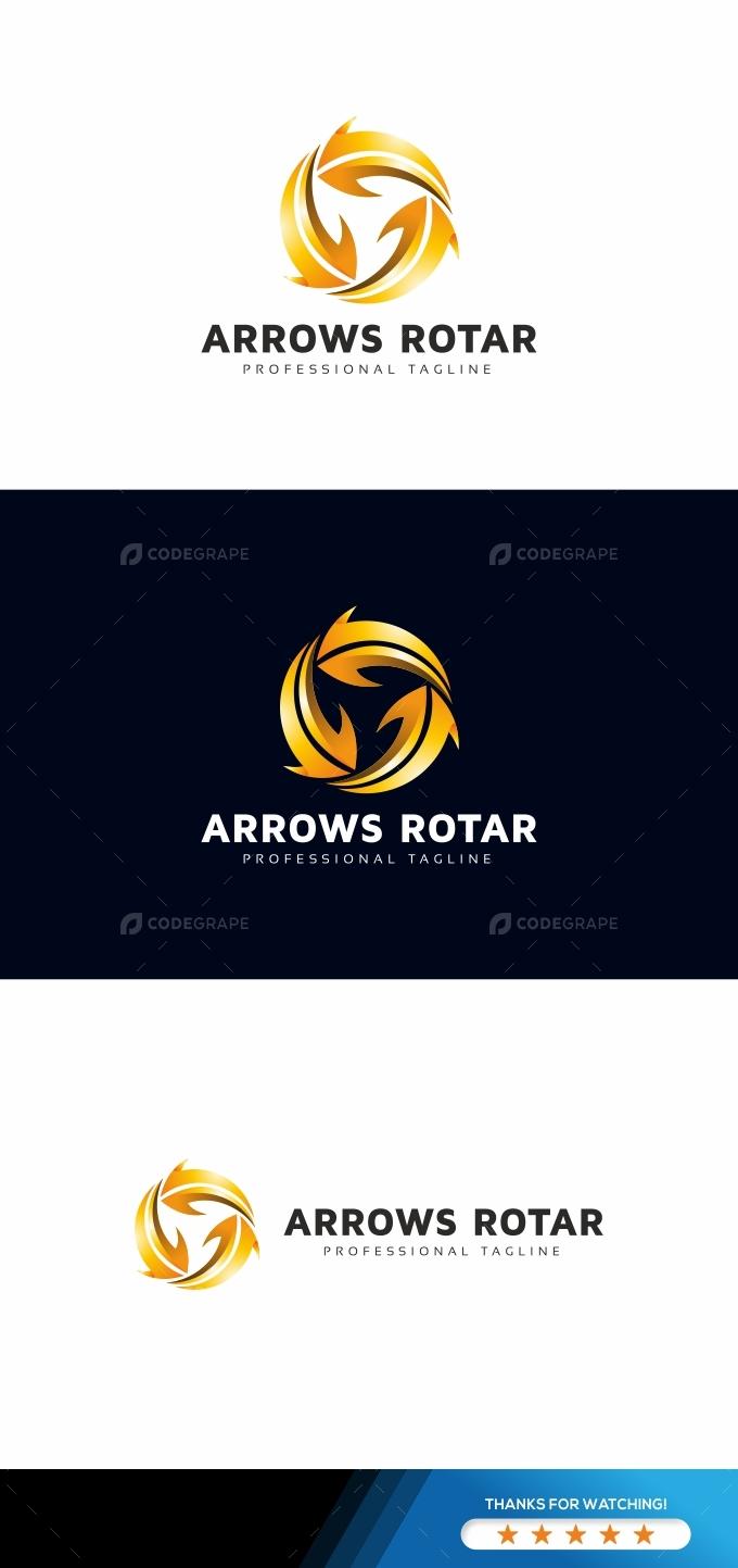 Arrows Rotation Logo