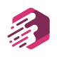 F Letter Hexagon Logo