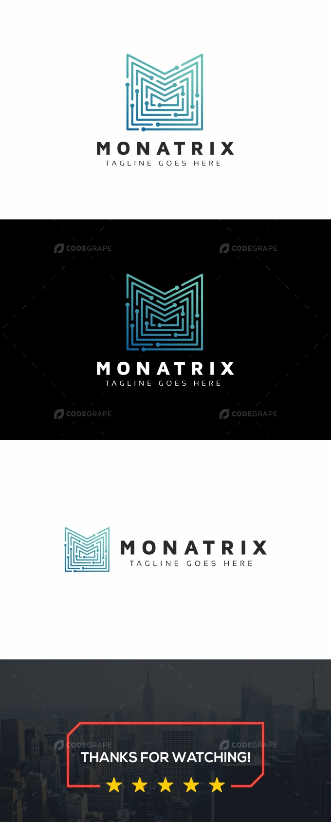 Monatrix M Letter Technology Logo