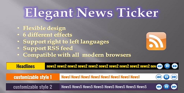 Elegant News Ticker