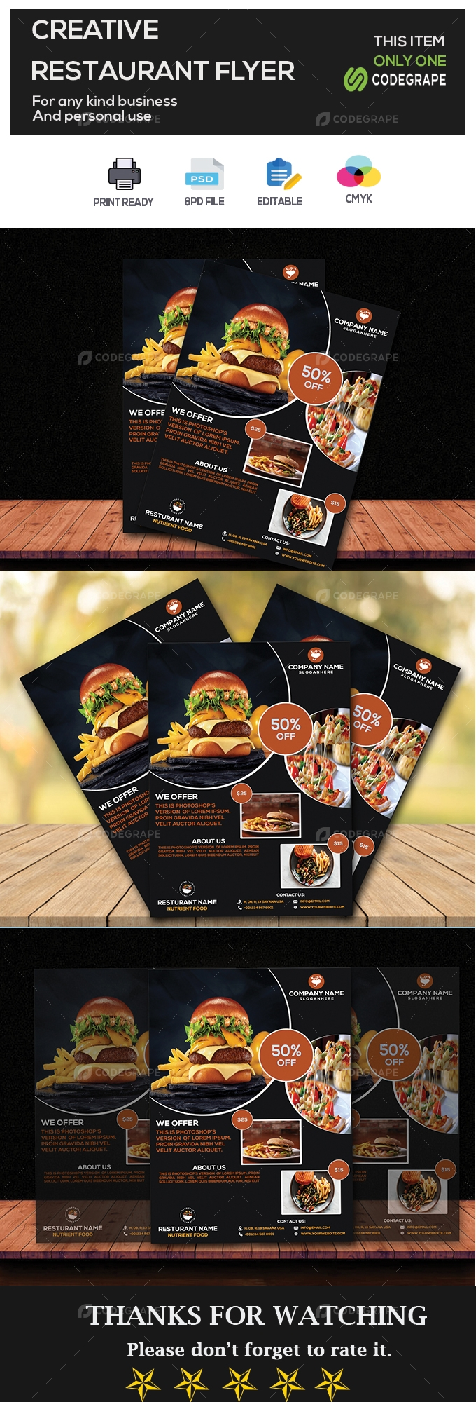 Restuarant Food Flyer