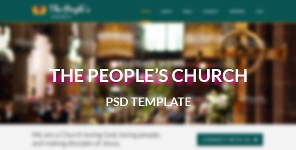 The Peoples Church - PSD Template