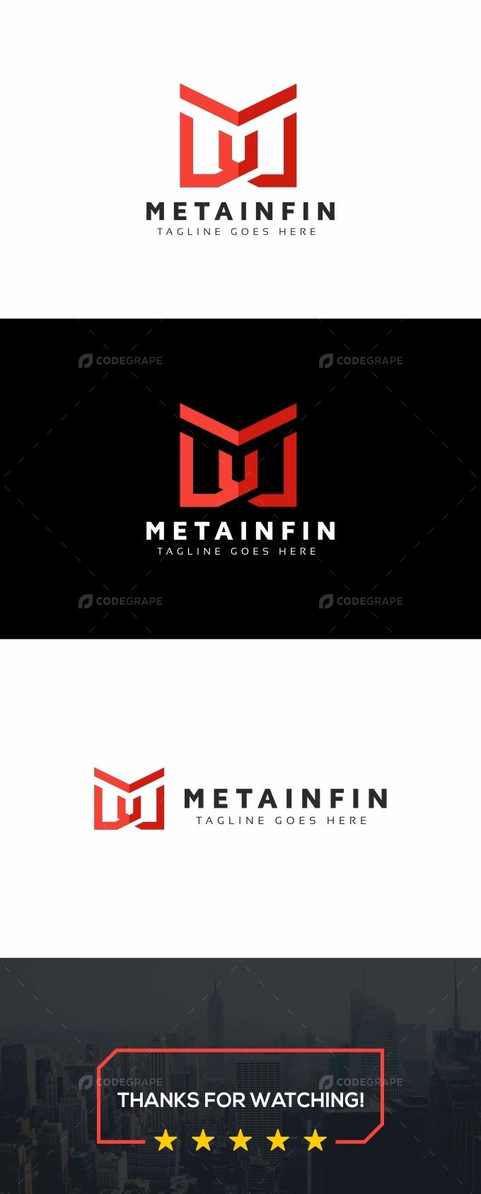 M Letter Infinity Logo
