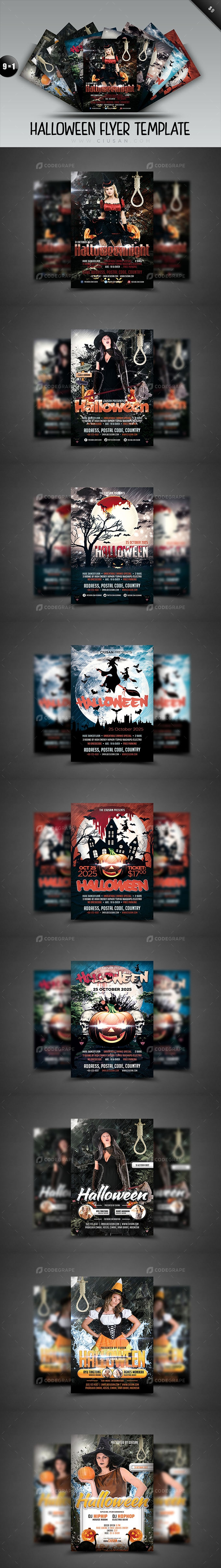 Halloween Flyer Template - Bundle