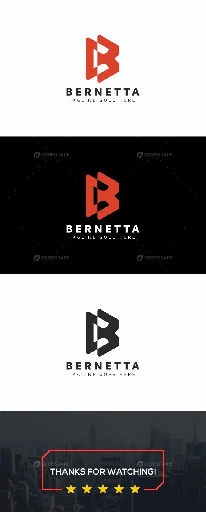 Bernetta B Letter Logo