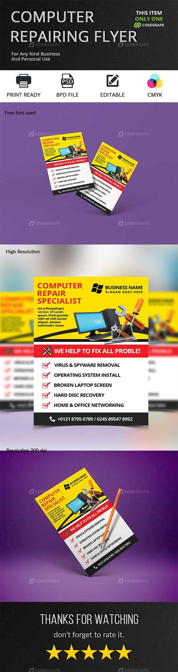 Computer Repairing Flyer