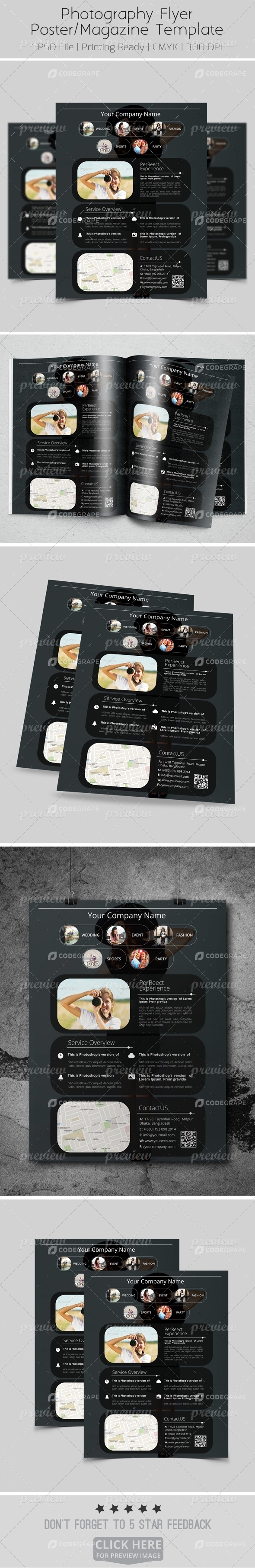 Photography Flyer/Poster/Magazine Template