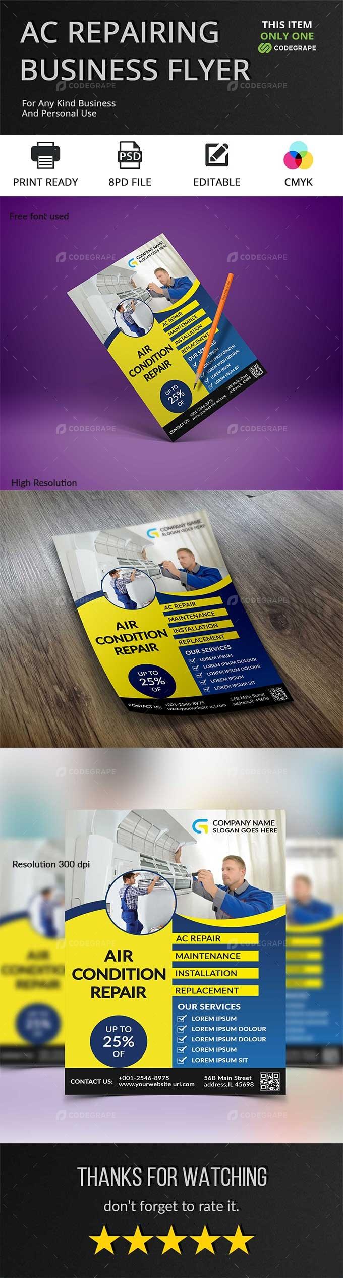 Repairing Business Flyer